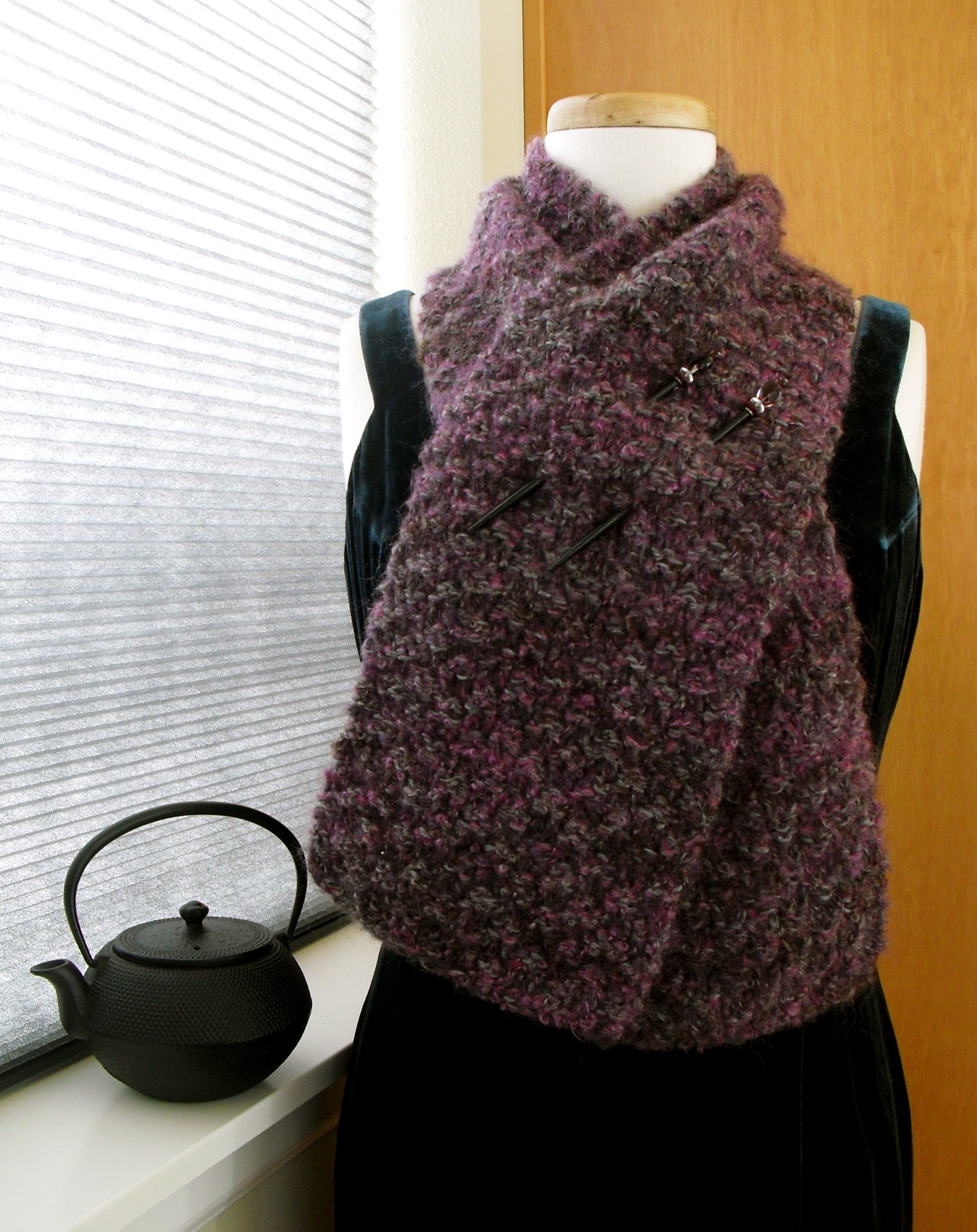 Lady violettes djidji hand knitted winter scarf of vintage the dji dji scarf designed by lady violette bankloansurffo Images