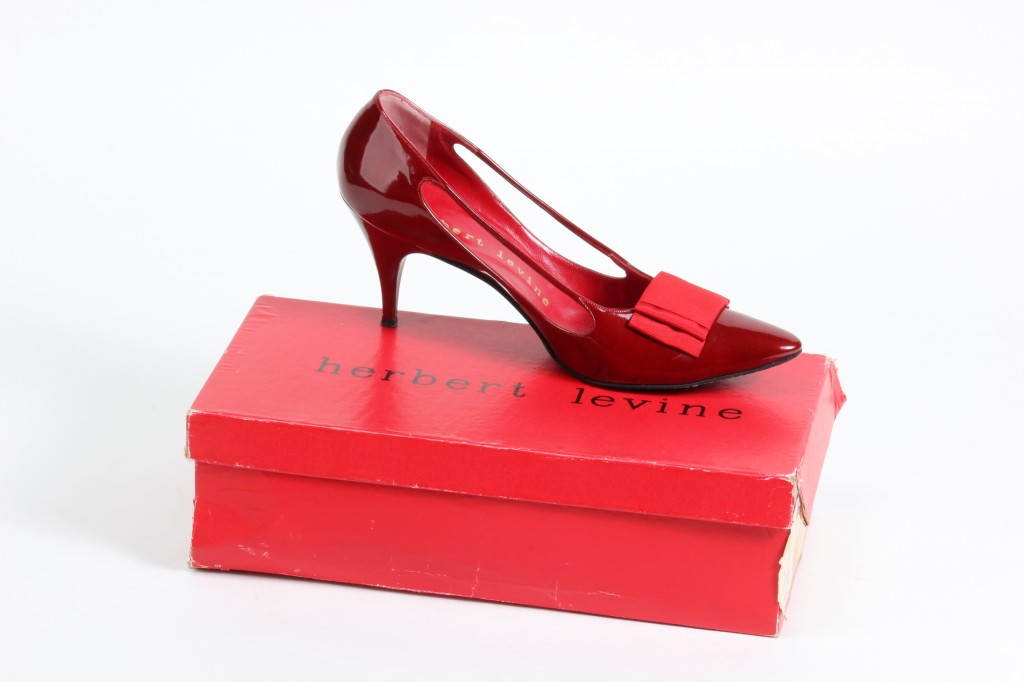 be06a02bddde Red Patent Pump with Grosgrain Ribbon Bow by Herbert Levine Shoes
