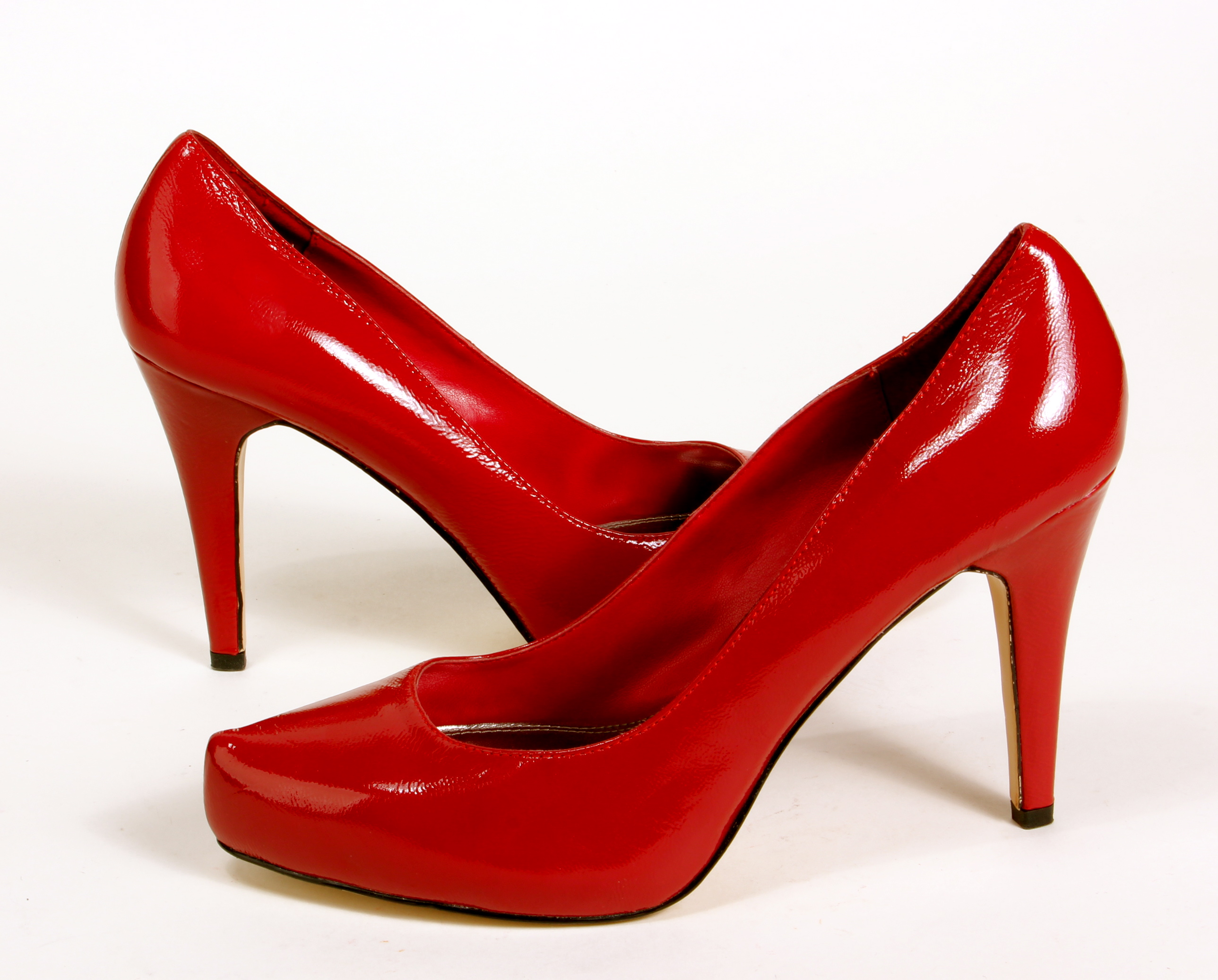 Contemporary Red Carpet Worthy Red Patent Modern Ultra High Heels ...
