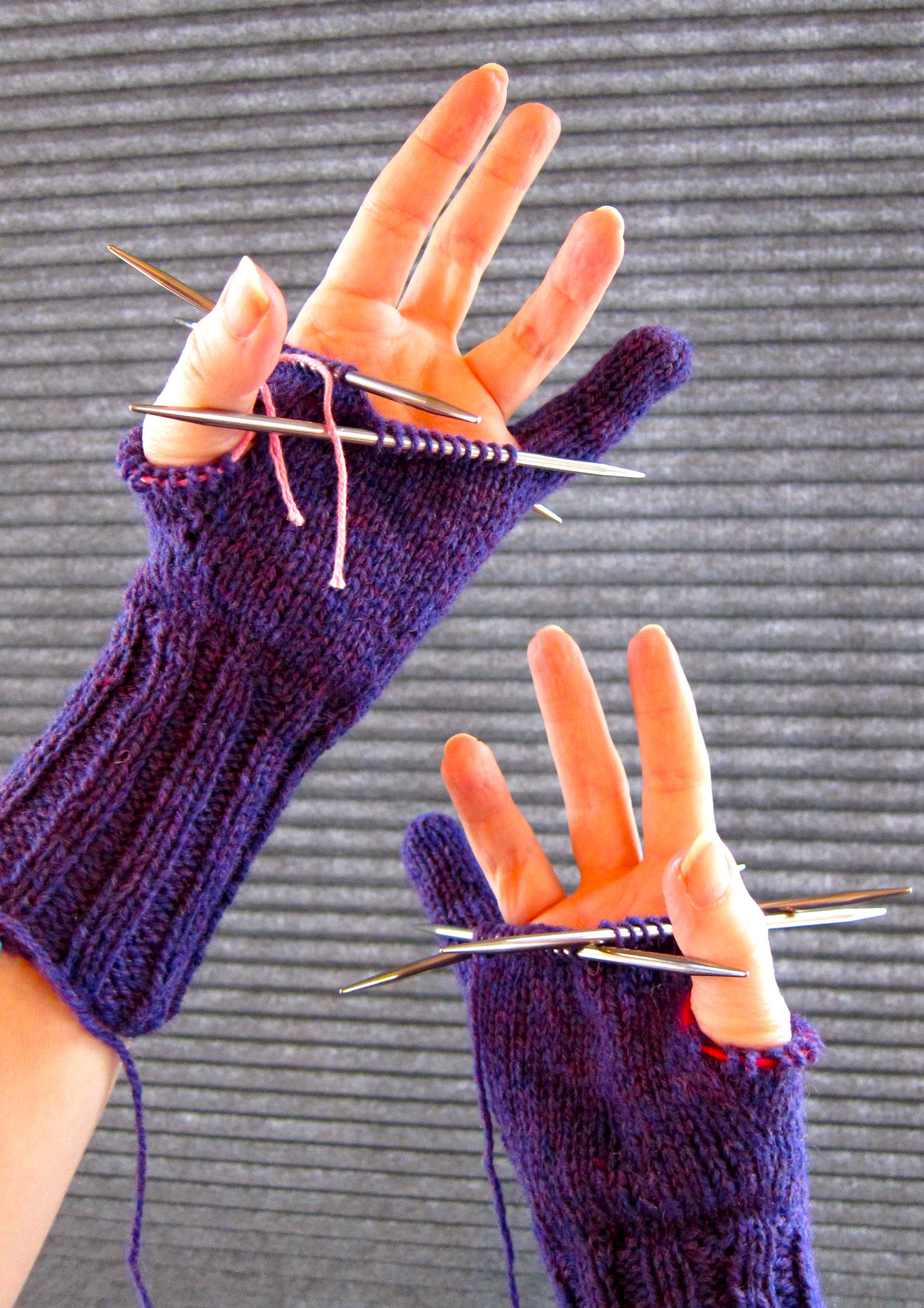 Violet Gloves ~ Knitting Work in Progress ~ Continuation ...