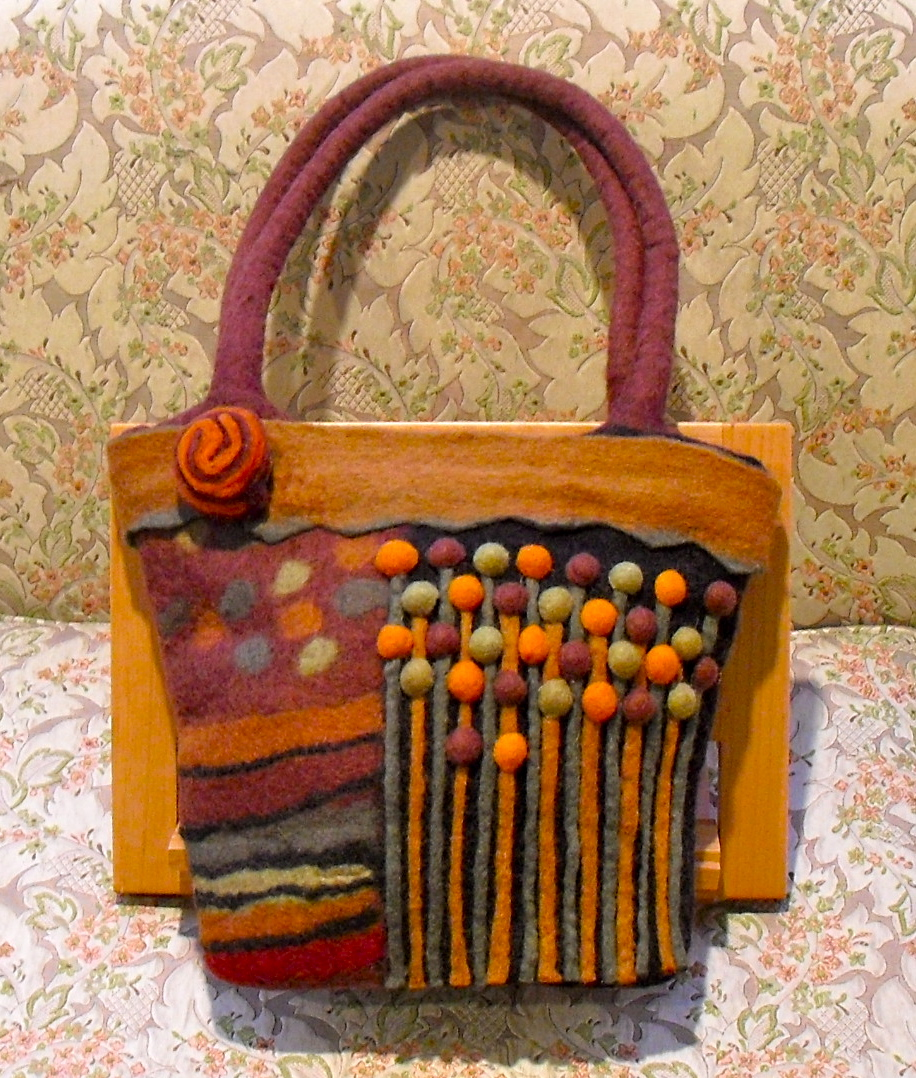6dd5c4c984d48 A Hand Knitted   Felted Handbag Made By Artists in Bolivia of 100% Wool  from Lady Violette de Courcy s Personal Handbag Collection