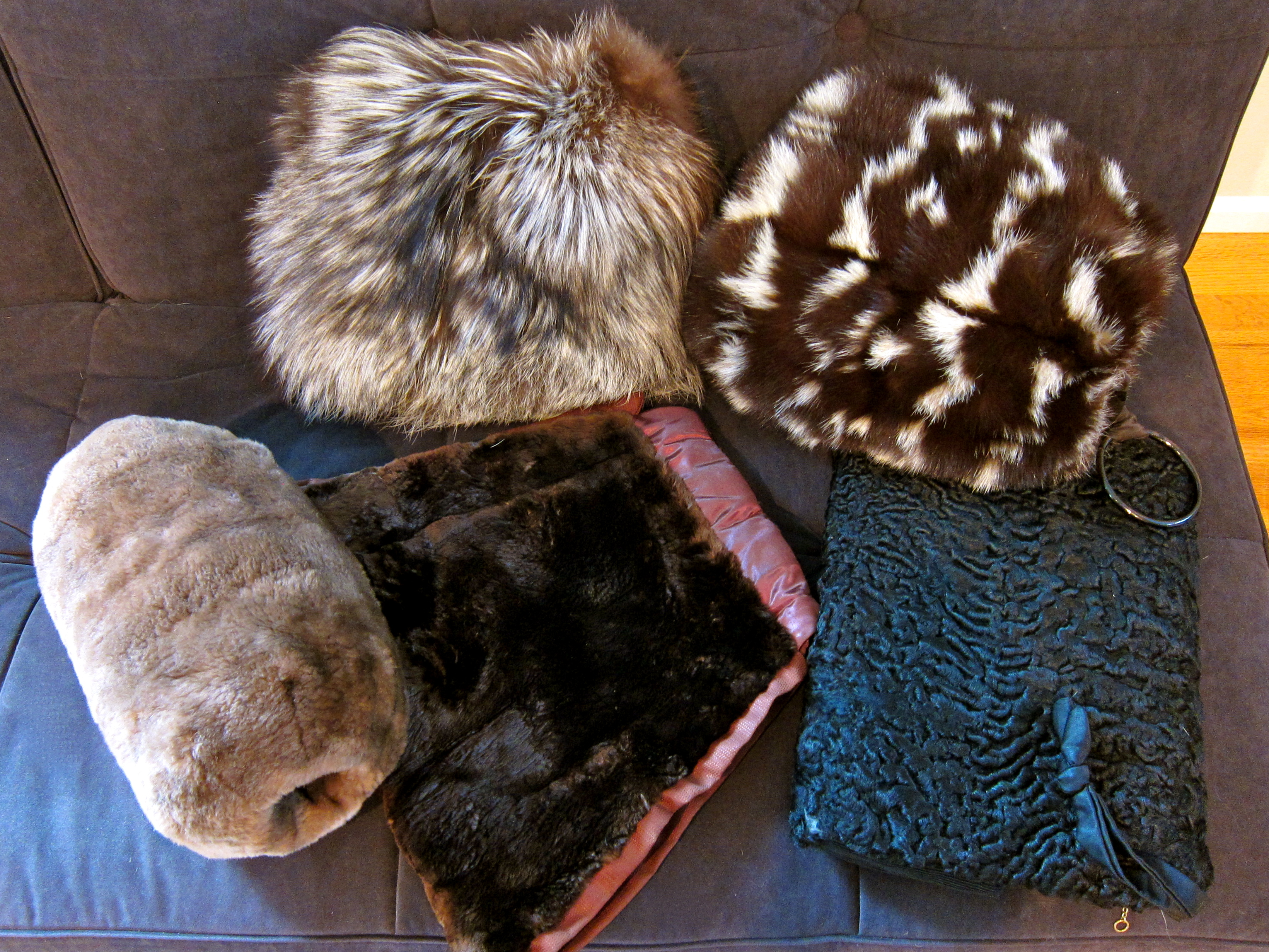 aebf2618b7 My Collection of Five Vintage Fur Muffs