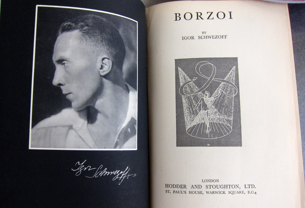 Photo of the author, Igor Schwezoff and the title page